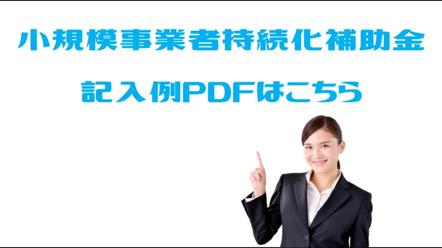 【PDFデータ】小規模事業者持続化補助金の事業計画サンプル